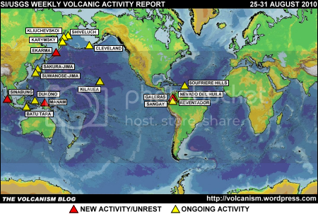 SI/USGS Weekly Volcanic Activity Report 25-31 August 2010
